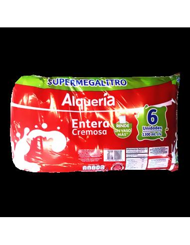 LECHE ALQUERIA ENTERA 1.3 6 BOLSAS
