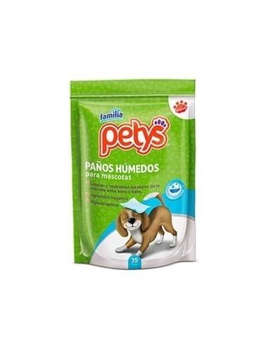PAÑITOS HUMEDOS MASCOTAS PETYS 35UN