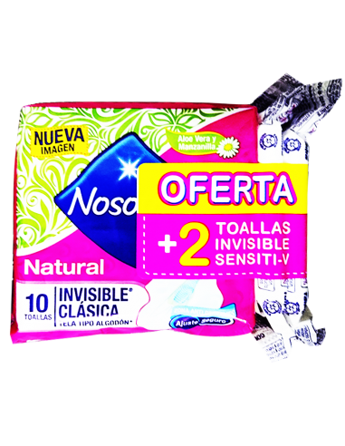 TOALLAS NOSOTRAS INVISIBLE CLASICA 12 U